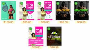 price of massy arias workout