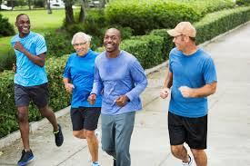 Men over 40 jogging